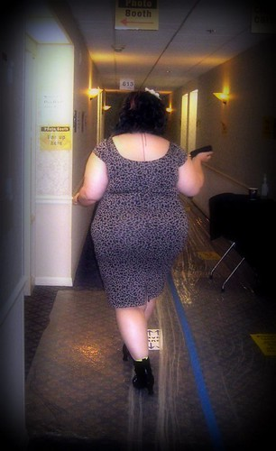 The Rotund, walking away from the camera