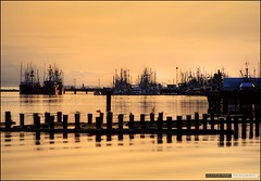 Steveston (Clayton Perry Photoworks) Tags: sky silhouette reflections boats silhouettes richmond hdr steveston
