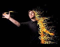 Day 300 - Blast *Explore #1* (Daniel | rapturedmind.com) Tags: selfportrait bokeh blast dissolve day300 project365 strobist canonef2470f28 bokehballs 300365 bokehbubbles