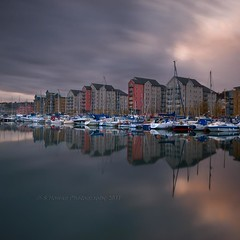 Marina LAB (Scott Howse) Tags: uk longexposure england sky cloud water marina bristol boats portishead flats lee leisure filters graduated nd110 09h