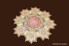 Star Kolam (Kamalakolam) Tags: flowers wedding flower color colour art floral festival temple design culture marriage hobby round colourful tradition kolam rangoli kamala