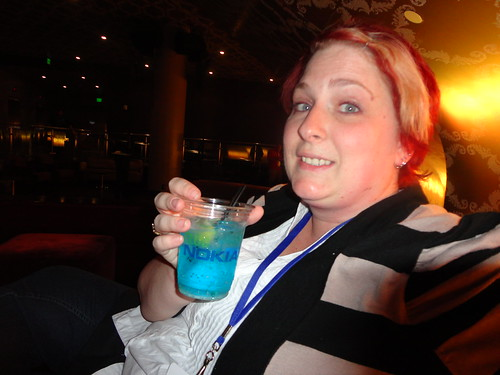 Kellie enjoying a post-event drink