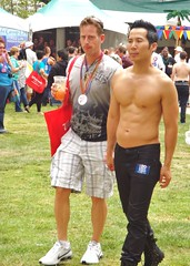 LA Pride Sunday 040 (danimaniacs) Tags: shirtless man hot sexy guy nipple muscular bare beefy chest hunk lapridesunday