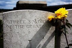 Three soldiers of the Great War, Queens Cemetery, 15 June 2011