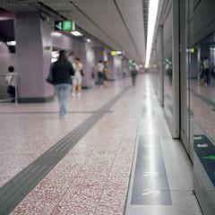 people in the city (Steve only) Tags: mamiya mamiyaflex c2 mamiyasekor 8028 80mm f28 bluedot blackseries tlr fujifilm pro 400h 6x6 120 mediumformat epson gtx820 v600 film city snaps railway station peopleinthecity underground subway