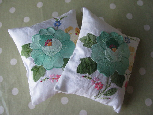 Vintage Napkins Into Lavender Bags by Handmade and Heritage