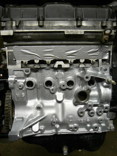 Engine Block Painted