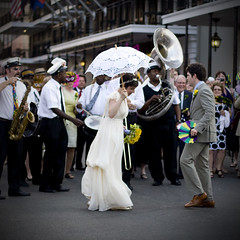 New Orleans bride and groom