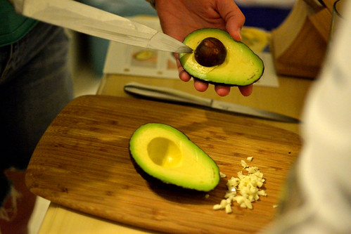 guacamole in the making