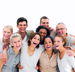 Group of happy business people laughing (Meliss49) Tags: life girls portrait people woman white man black male men girl beautiful beauty smile face up look smiling businessman closeup modern female standing laughing hair happy person corporate stand team workers women looking close adult natural background group young lifestyle front fresh professional business human american worker executive success businesswoman