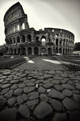 Black Colosseo (skweeky ツ) Tags: italy white black rome roma italia noir coliseum blanc italie colosseo pave colisee