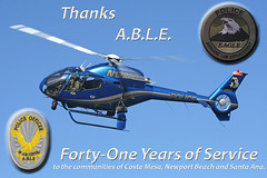 Thanks ABLE (PhantomPhan1974 Photography) Tags: police able ec120 budgetcuts costamesapolice newportbeachpolice