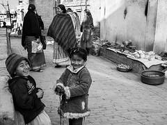 Street scene in Kirtipur (Dick Verton ( more than 13.000.000 visitors )) Tags: travel nepal smile children women asia streetlife streetscene streetview streetshot kirtipur
