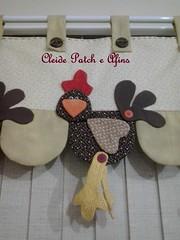 Band com galinhas (Cleide Patch e Afins) Tags: cortina corao patchwork decorao cozinha tecidos galinhas enfeite botes enxoval band