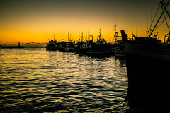 black gold_ (WITHIN the FRAME Photography(4 Million views tha) Tags: light sunrise boats dawn harbor shadows digitalart silhouettes capetown kalkbay westerncape moored eos7d