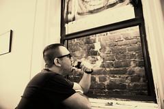 Relaxing (dmitri.kalinin) Tags: window pipe smoking smoker pipesmoker