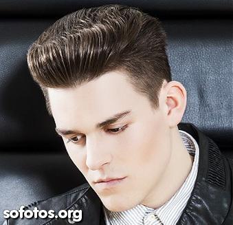 alisamento cabelo masculino topete