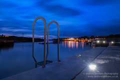 South Quay (andrew benham) Tags: 2016 sky clouds cornwall harbour hayle key light longexposure low matal night steps stone structure water