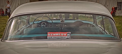 Kennedy for President.. (Harleynik Rides Again.) Tags: chevy 57 belair kennedy president bumpersticker political usa harleynikridesagain election trump clinton