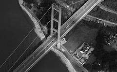 Humber Bridge from 3,000 (Ryan J. Nicholson) Tags: arialphotography eastyorkshire aerialphotography sky birdseyeview iamnikon town goole howden yorkshire landscape bridge humberbridge england suspensionbridge