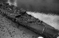(unsinkable battleship) (Dinasty_Oomae) Tags: leica leicaiiia leica3a  iiia 3a   blackandwhite blackwhite monochrome bw outdoor   hiroshima   kure  boat