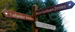 Coilhallan Woods, Callander (Pauline Deas) Tags: callander trossachs scotland scottish hills walks rambles signs woods autumn mountains lochs