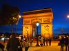 Arc de Triomphe, dusk (leoglenn_g) Tags: travel light paris france architecture night places arcdetriomphe epl1