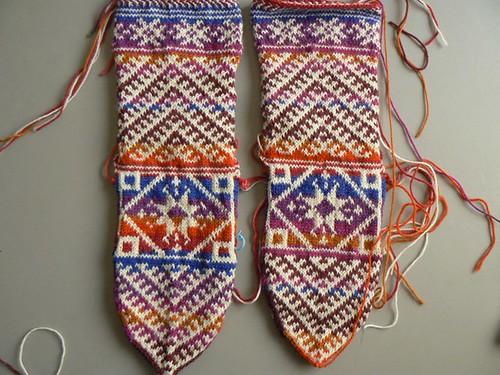 kilim socks wip1
