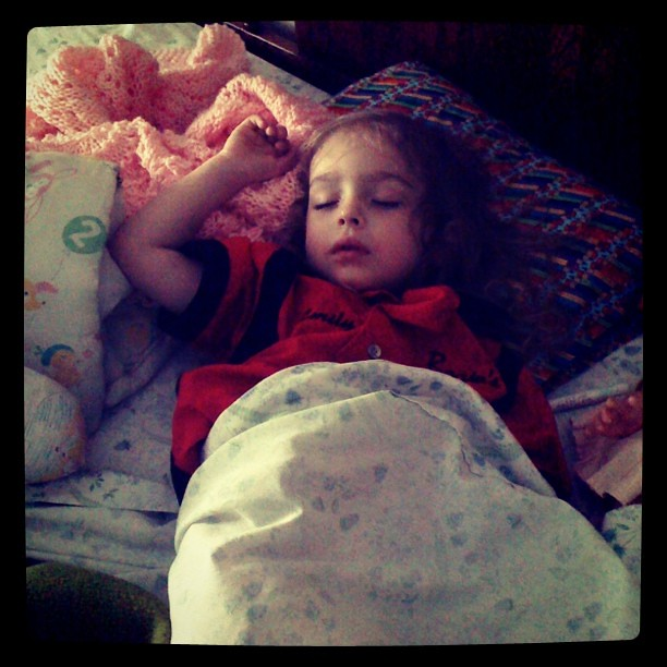 Turning 3 just wears a girl out!