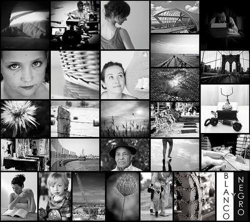 Mosaico blanco y negro ][