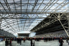 HDR Inside the Stadium Panorama (Dan @ DG Images) Tags: world roof people dan cup lines lumix day open rugby stadium web ghost panasonic covered dunedin hdr barr goodwin forsyth photomatix fz35 pommedan