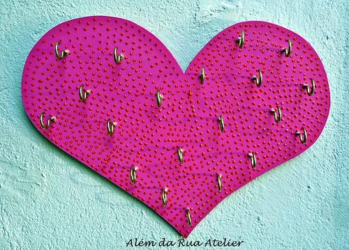 porta bijoux em formato de coração