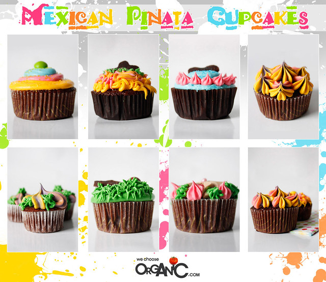 cupcakes - mexican pinata theme, birthday