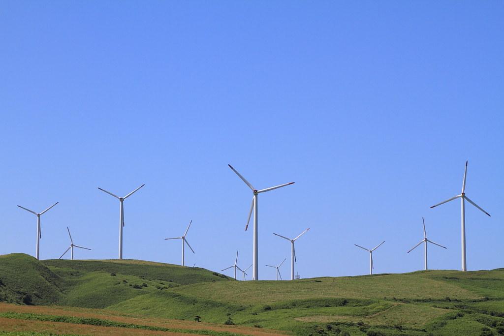 the windmills at Soya hill, Hokkaido