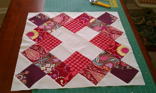 Red Katie's choice block by bryanhousequilts