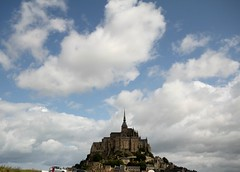 Mont St Michel (Peter Denton) Tags: sky france building church abbey architecture clouds europe religion eu monastery normandie christianity stmichael normandy archangel montstmichel benedictinemonastery abb canoneos60d peterdenton