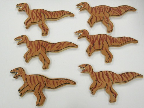 [Image from Flickr]:Velociraptor Cookies