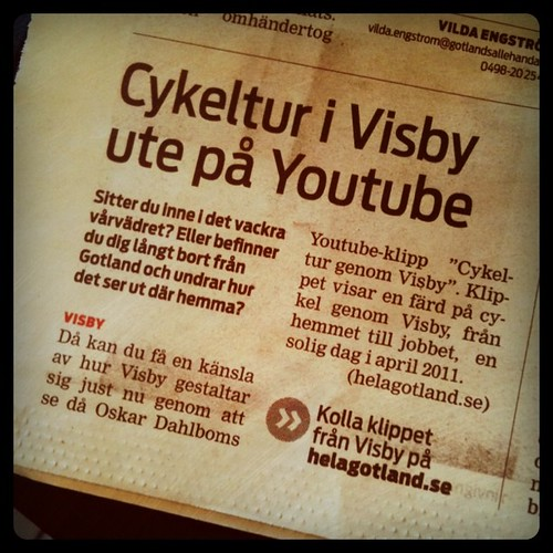 Cykeltur i Visby ute på Youtube