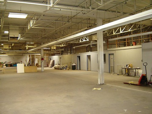 This large, once empty warehouse has been converted into a dynamic, culturally-based community-run marketplace.
