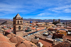 Bolivia-100602-256 (Kelly Cheng) Tags: travel roof color colour building tower heritage tourism church southamerica motif sunshine horizontal architecture clouds landscape design daylight colorful day pattern cloudy outdoor religion colonial culture vivid sunny bolivia bluesky nobody nopeople christian unesco monastery getty christianity colourful copyspace convent potosi traveldestinations conventofsanfrancisco gettysale pickbykc 119246086 gi1207