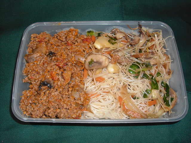 Minced Beef with Rice Noodles