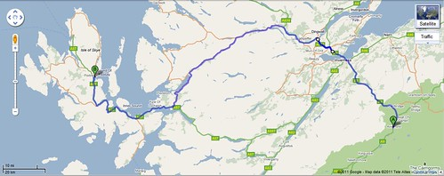 Aviemore To Portree Driving Map