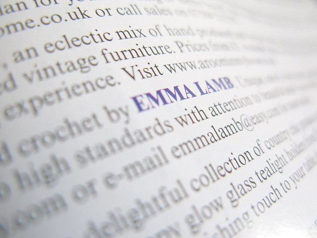My name in print, in Vogue! | Emma Lamb