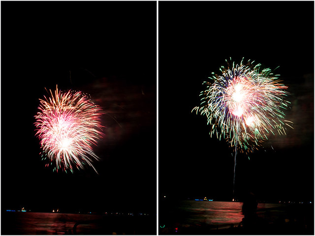 July 4th fireworks diptych 19