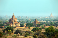 beautiful Bagan temples, Burma - Myanmar (Igor Bilic) Tags: old light sunset beautiful sunrise landscape temple burma buddhist religion villages holy monks temples myanmar division burmese mandalay pagan pagodas bagan walledcity hram relocating igorbilic buddhisam