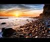 Evenings Fade (Tony DeSantis Photography) Tags: ocean california sunset sky beach water clouds canon rocks time socal nik noiseninja southerncalifornia orangecounty oc 1ds hdr topaz 1dsmarkii photomatix 24105l cs5 colorefexpro detailenhancer topazadjust tonydesantisphotography topazinfocus