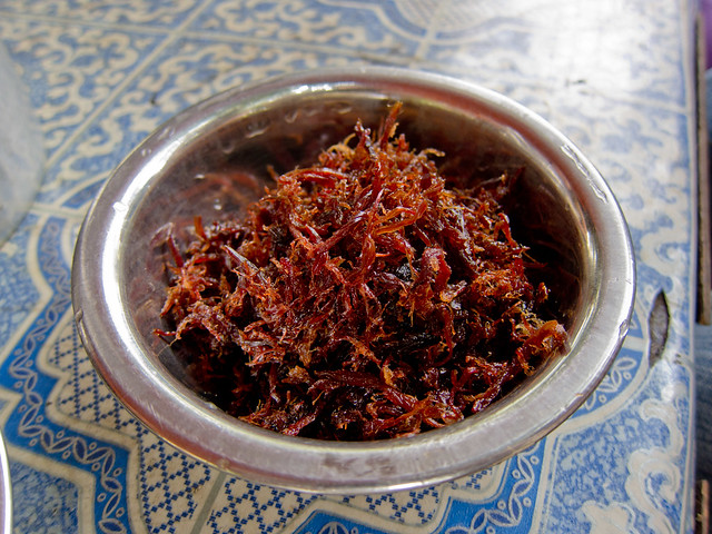 Seit Thaa Kyaut Kyaw (Dried, Fried Goat Meat)