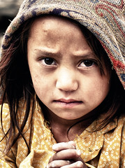 Turtuk Gal. (Prabhu B Doss) Tags: portrait girl hope kid intense eyes nikon women shawl kashmir khardungla balti ladakhi d80 turtuk prabhub prabhubdoss zerommphotography 0mmphotography