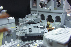 T-34 Shooting -'Death in the snow'- (ResistanceBrick [Juri-Flurry]) Tags: lego soviet ww2 redarmy stalingrad oostfront dutchlego epicmoc legoworld2o12 operationbarbosa sovietatack resistancebrick