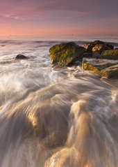 Morning Rush - - - Santa Barbara, CA (ernogy) Tags: ocean california longexposure morning seascape water santabarbara landscape photography wave beachsunrise ernogy